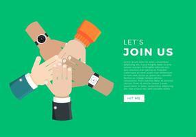 Joignez-vous à nous Vector gratuit