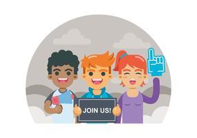 Rejoignez-nous Concept d'invitation vecteur