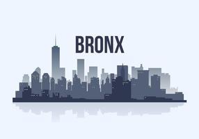 Bronx City Skyline Silhouette Illustration Vecteur