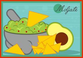 Molcajete pour la nourriture mexicaine vecteur