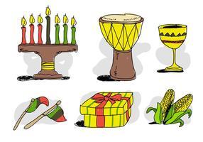 Kwanzaa Stuff Illustration dessinée à la main