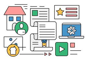 Icônes de transactions immobilières gratuites