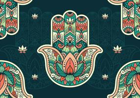 Papier peint de motif Hamsa vecteur