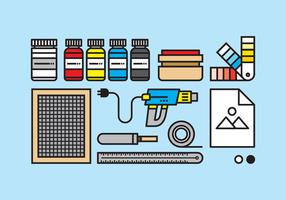 Illustration d'outils d'étirage vecteur