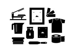 Free Silhouette Screen Printing Icon Vector