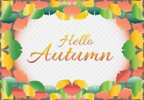 Fond d'automne avec l'illustration des feuilles de Ginkgo Biloba vecteur