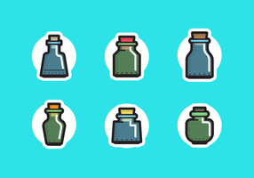 Bouteille avec Stopper Free Vector Pack