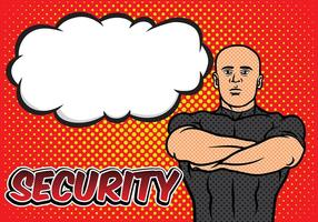 bouncer security pop art background vecteur