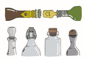 Collection d'illustration vectorielle dessinée à la main à bouchon de bouteille vecteur
