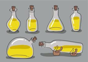 Collection d'illustration vectorielle dessinée à la main à bouchon de bouteille