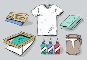 Outils d'impression sérigraphique Illustration vectorielle