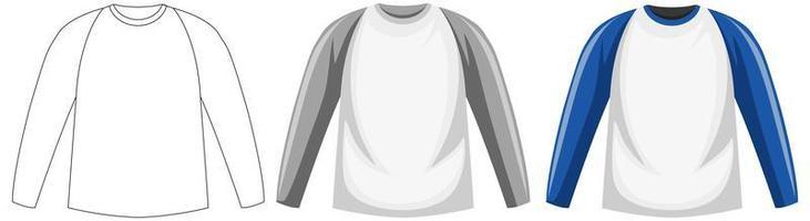 chemise à manches longues isolée vecteur