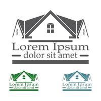 ensemble de couleurs de modèle de conception de logo vectoriel immobilier.