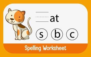 trouver la lettre manquante avec un chat vecteur