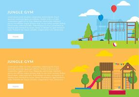 jungle gym banner template vecteur gratuit