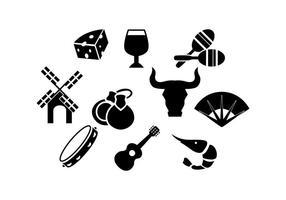 vecteur icône silhouette gratuite en espagne