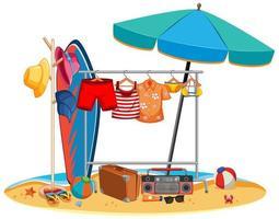 vêtements d'été isolés suspendus en plein air vecteur