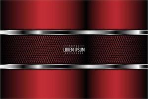 fond métallique moderne rouge, noir et argent