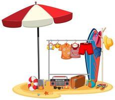 vêtements d'été suspendus isolés
