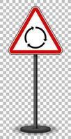 panneau de signalisation rouge sur fond transparent
