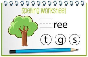 trouver la lettre manquante avec l'arbre vecteur