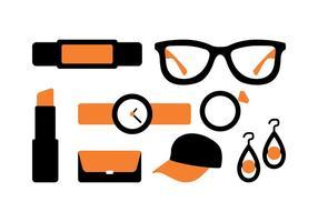 Pack d'icônes d'accessoires vecteur