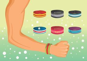Ensemble de vecteur de bracelet