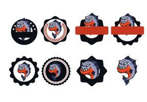 vecteur badge piranha