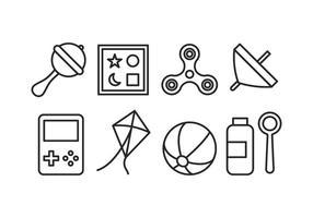 Pack d'icônes de jouets vecteur