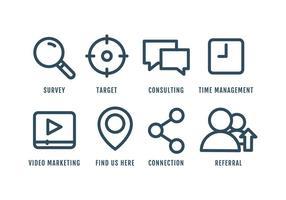 Ensemble d'icônes de marketing vecteur