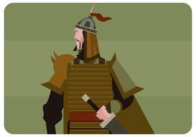 Vecteur de soldat mongol