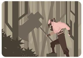 Vecteur guerrier mongol