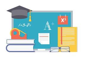 Fond d'arrière-plan Back To School gratuit vecteur