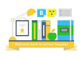 Éléments et icônes vectoriels libres de retour à l'école vecteur