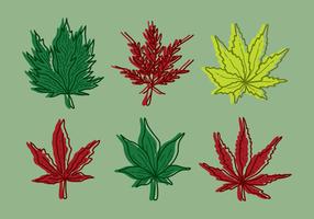 Vecteur d'érable à feuilles japonaises