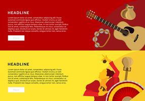 Bannière de musique espagnole Vector libre