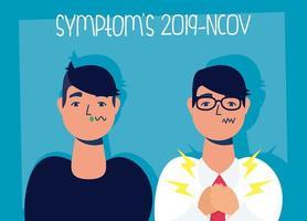 bannière de prévention et de symptômes du coronavirus vecteur