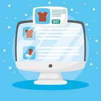 bureau avec technologie d'achat en ligne