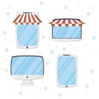 gadgets pour les achats en ligne et le commerce électronique