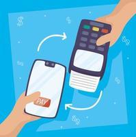 technologie de paiement en ligne avec smartphone