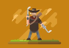 L'homme dans l'illustration de Poncho vecteur