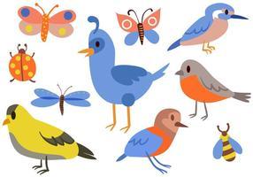 vecteurs libres d'insectes d'oiseaux vecteur