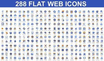 ensemble d & # 39; icônes plates bleues et orange