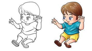 coloriage de dessin animé enfant pour les enfants