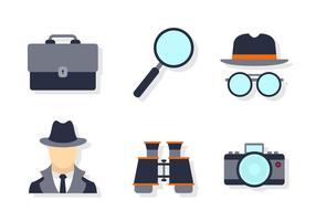Ensemble d'icônes de surveillance de quartier vecteur
