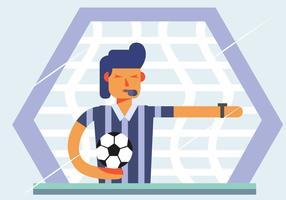Vecteur de l'arbitre de football