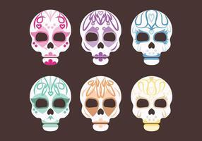 Ensemble vectoriel de crânes de sucre