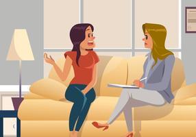 Psychologue avec vecteur patient