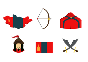 Icônes mongoles Free Vector Pack