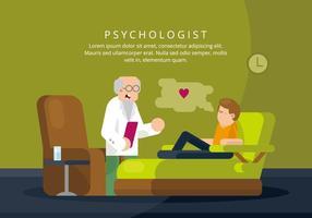Illustration de psychologue vecteur